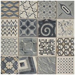 Merola Tile Century Millennial 9-3/4-inch x 9-3/4-inch Porcelain Floor and Wall Tile (10.42 sq. ft. / case)