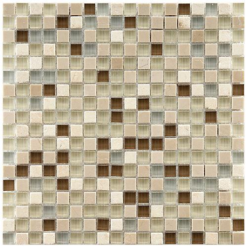 Tessera Mini York 11.75-inch x 11.75-inch x 8 mm Glass and Stone Mosaic Tile (9.79 sq. ft. / case)