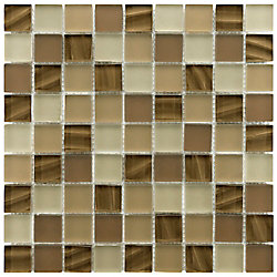 Merola Tile Atlantis Nautilus 11-3/4-inch x 11-3/4-inch x 8 mm Glass Mosaic Tile (9.79 sq. ft. / case)