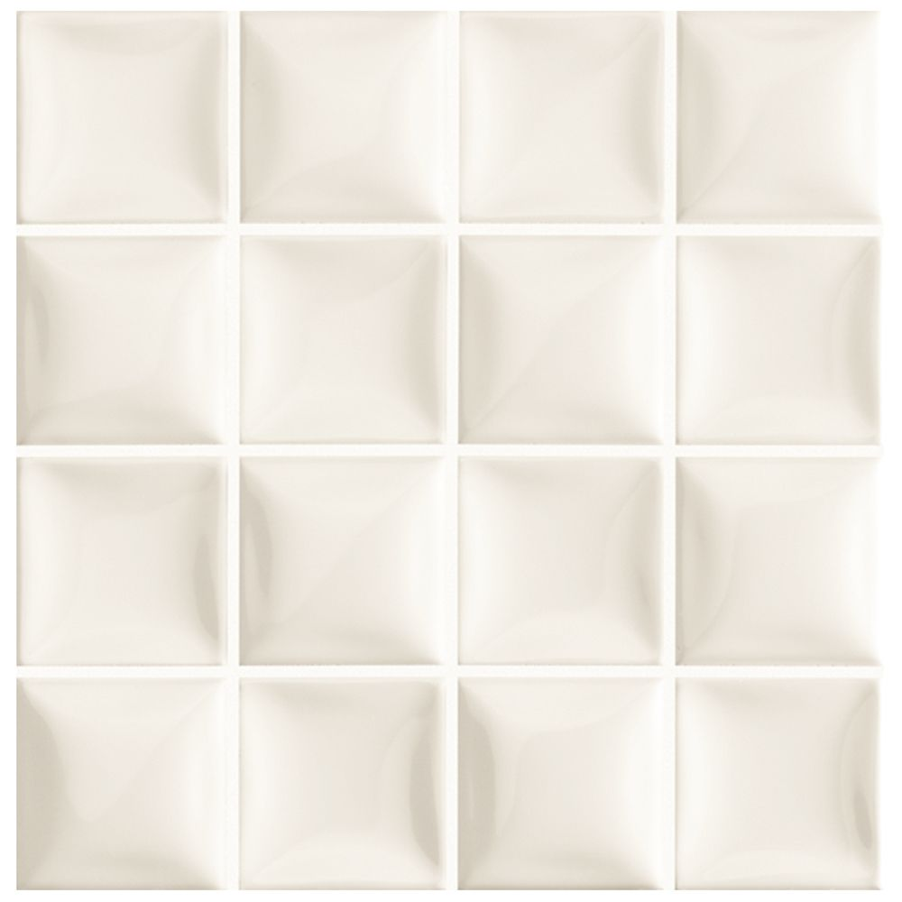Merola Tile Duna Marfil Soft White 7-7/8-inch x 7-7/8-inch Ceramic Wall Tile (8.25 sq. ft. / case)