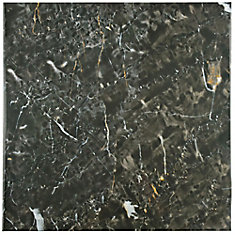Donna Nero 17-3/4-inch x 17-3/4-inch Ceramic Floor and Wall Tile (15.75 sq. ft. / case)