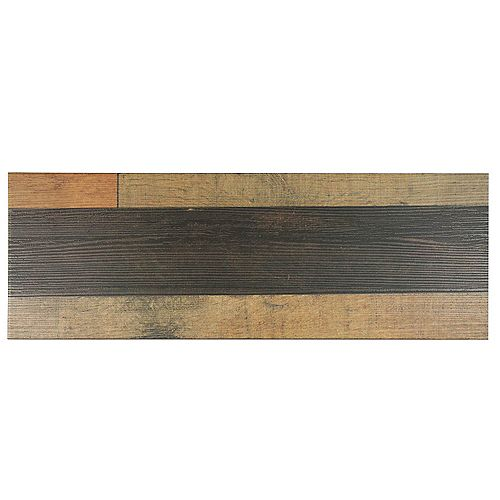 Merola Tile Madera Mix 7-7/8-inch x 23-5/8-inch Ceramic Floor and Wall Tile (13.33 sq. ft. / case)