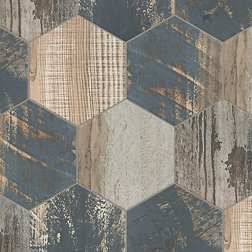 Gaugin Hex Catan Shadow 8-1/2-inch x 9-3/4-inch Porcelain Floor and Wall Tile (11.28 sq. ft. / case)