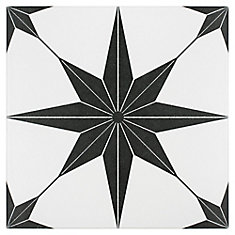 Stella Nero 9-3/4-inch x 9-3/4-inch Porcelain Floor and Wall Tile (10.76 sq. ft. / case)