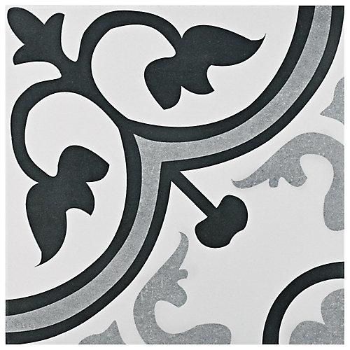 Carreau mur et sol en céramique 12 3/8 po x 12 3/8 po Amberes classique (10,96 pi2/bte)
