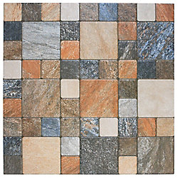 Merola Tile Atlas Por Rustico 12-1/4-inch x 12-1/4-inch Porcelain Floor and Wall Tile (16.28 sq. ft. / case)