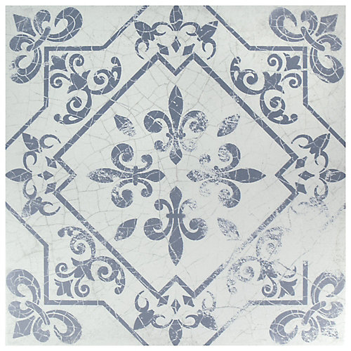 Atlantic Azul 17-5/8-inch x 17-5/8-inch Ceramic Floor and Wall Tile (15.53 sq. ft. / case)