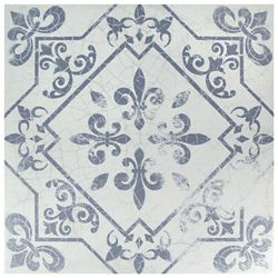 Merola Tile Atlantic Azul 17-5/8-inch x 17-5/8-inch Ceramic Floor and Wall Tile (15.53 sq. ft. / case)