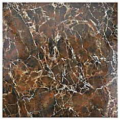 Eclipse Marron 17-3/4-inch x 17-3/4-inch Ceramic Floor and Wall Tile (15.75 sq. ft. / case)