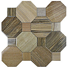 Kyoto Nogal 17-3/4-inch x 17-3/4-inch Ceramic Floor and Wall Tile (22.5 sq. ft. / case)