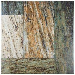 Merola Tile Carreau mur et sol en porcelaine 17 3/8 po x 17 3/8 po Metal Slate (17.28 pi2/bte)
