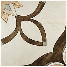 Argos Natural 17-3/4-inch x 17-3/4-inch Ceramic Floor and Wall Tile (21.85 sq. ft. / case)