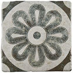 Merola Tile Costa Cendra Decor Zinnia 7-3/4-inch x 7-3/4-inch Ceramic Floor and Wall Tile (11.11 sq. ft. / case)