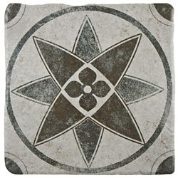 Merola Tile Costa Cendra Decor Starflower 7-3/4-inch x 7-3/4-inch Ceramic Floor and Wall Tile (11.11 sqft/case)