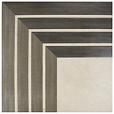 Arista Jet Noce 17-3/4-inch x 17-3/4-inch Ceramic Floor and Wall Tile (11.25 sq. ft. / case)