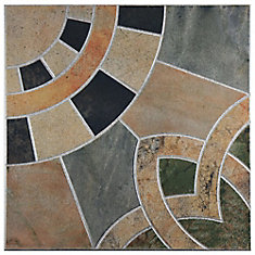 Cartago Azul 17-3/4-inch x 17-3/4-inch Ceramic Floor and Wall Tile (11.25 sq. ft. / case)