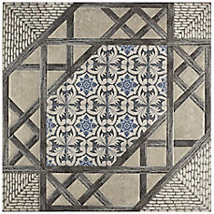 Olivia Gris 17-5/8-inch x 17-5/8-inch Ceramic Floor and Wall Tile (11.1 sq. ft. / case)