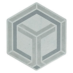 Merola Tile Odda Hex Decor Geo 5-7/8-inch x 6-3/4-inch Porcelain Floor and Wall Tile (6.63 sq. ft. / case)