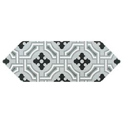 Merola Tile Kite Century Grey 4-inch x 11-3/4-inch Porcelain Floor and Wall Tile (11.81 sq. ft. / case)