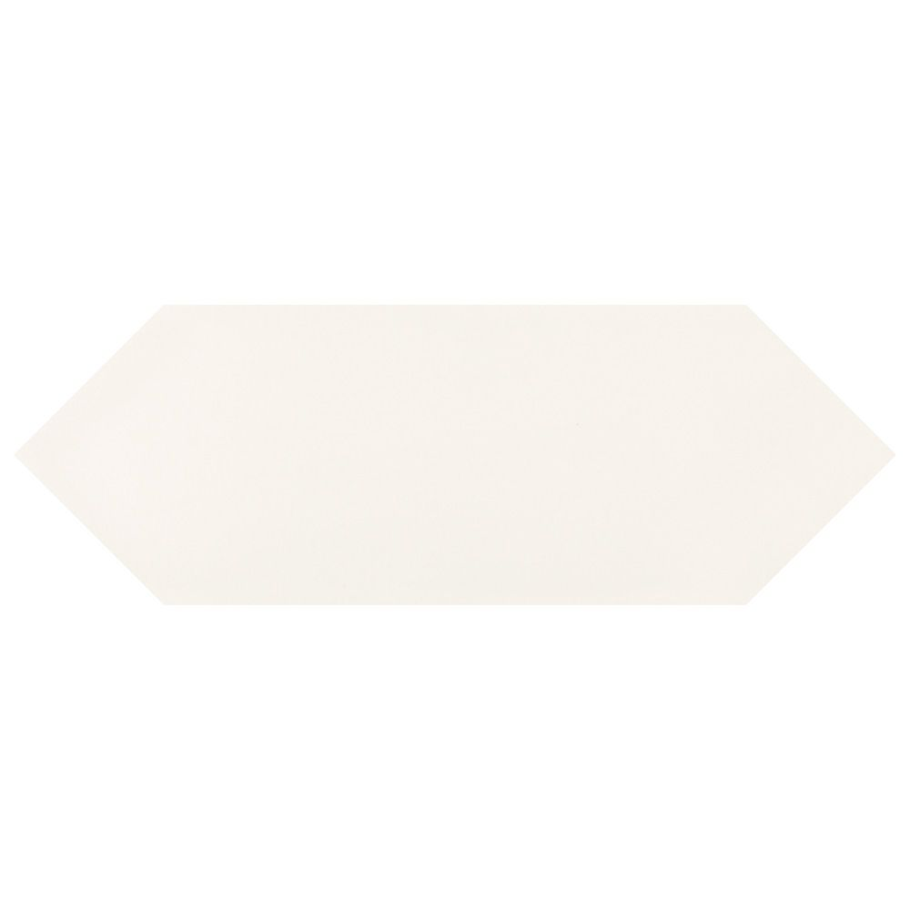 Merola Tile Kite White 4-inch x 11-3/4-inch Porcelain Floor and Wall Tile (11.81 sq. ft. / case)
