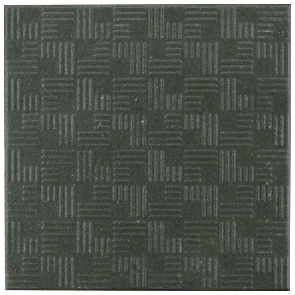 Merola Tile Area 15 Graphite 6-inch x 6-inch Porcelain Floor and Wall Tile (11.94 sq. ft. / case)