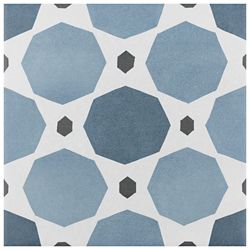 Merola Tile Caprice colors Sapphire Encaustic 7-7/8 in. x 7-7/8 in. Porcelain Floor and Wall Tile (11.46 sq. ft. / case)