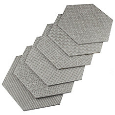 Coralstone Hexagon Melange Grey 10-inch x 11-1/2-inch Porcelain Floor and Wall Tile (5.6 sqft/case)