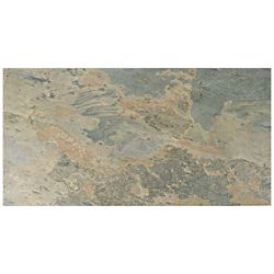 Merola Tile Ardesia Ocre 12-1/2-inch x 24-1/2-inch Porcelain Floor and Wall Tile (10.96 sq. ft. / case)