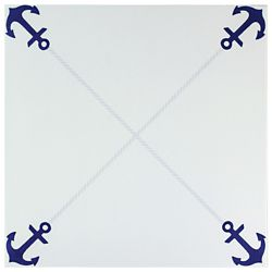 Merola Tile Anclas Azul 12-3/8-inch x 12-3/8-inch Ceramic Floor and Wall Tile (11.07 sq. ft. / case)
