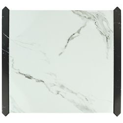 Merola Tile Exclusive Carrara 15-1/8-inch x 17-5/8-inch Ceramic Floor and Wall Tile (13.36 sq. ft. / case)