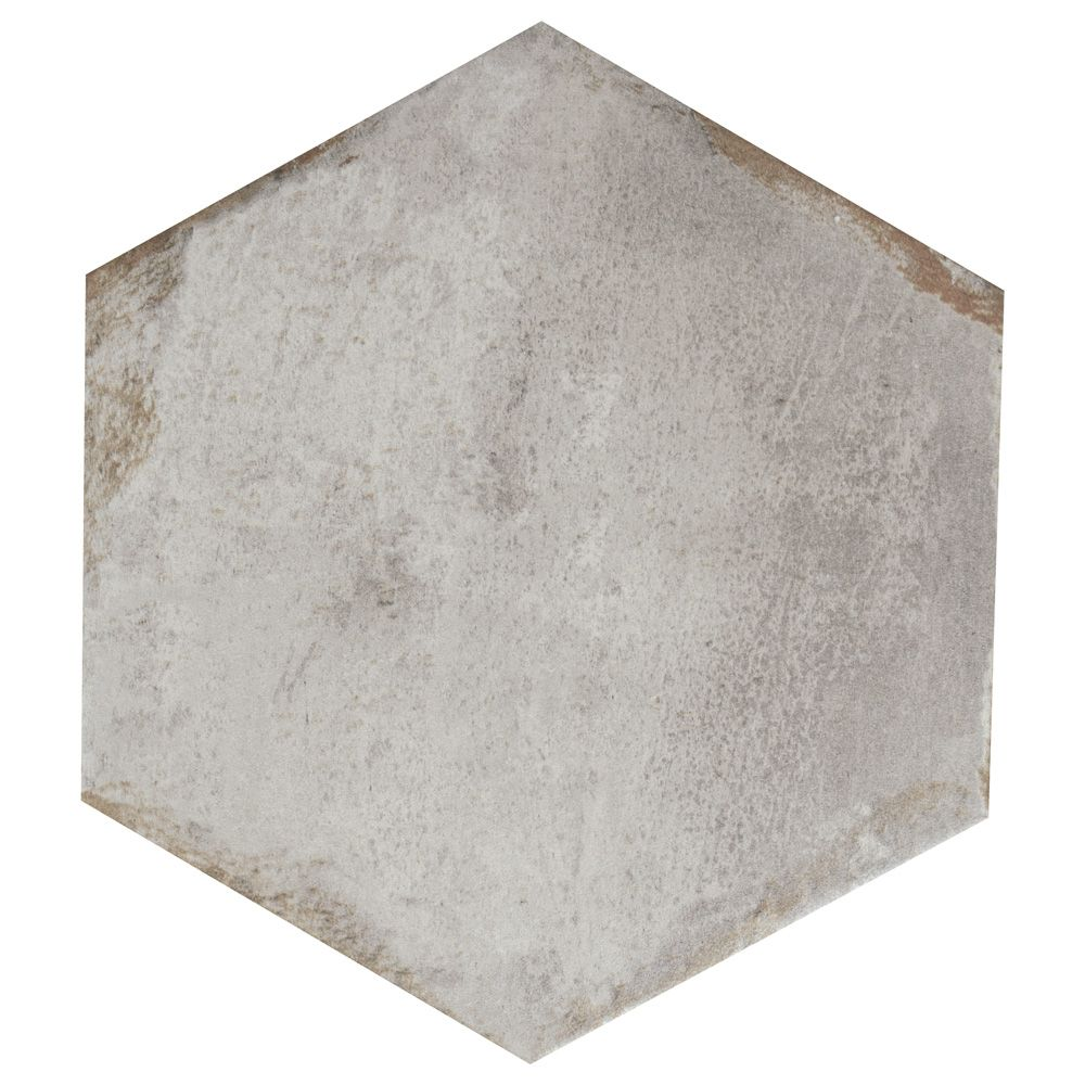 Merola Tile D'Anticatto Hex Grigio 11-inch x 12-5/8-inch Porcelain Floor and Wall Tile (11.22 sq. ft. / case)