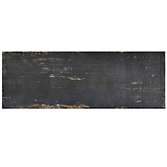 Retro Nero 8-1/4-inch x 23-1/2-inch Porcelain Floor and Wall Tile (11.22 sq. ft. / case)