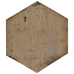Merola Tile Retro Hex Terra 14-1/8-inch x 16-1/4-inch Porcelain Floor and Wall Tile (11.05 sq. ft. / case)