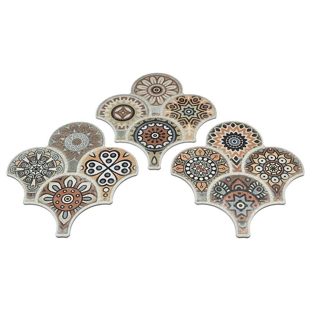 Carreau mur et sol en porcelaine 14 1/2 po x 16 1/8 po Scala Granada Colours Decor (14,27 pi2/bte)
