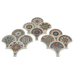 Merola Tile Carreau mur et sol en porcelaine 14 1/2 po x 16 1/8 po Scala Granada Colours Decor (14,27 pi2/bte)