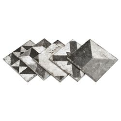 Merola Tile Antique Dark Mix 6-inch x 6-inch Porcelain Floor and Wall Tile (10.85 sq. ft. / case)