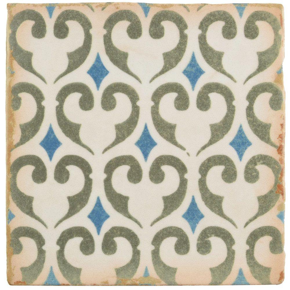 Merola Tile Archivo Khazana 4-7/8-inch x 4-7/8-inch Ceramic Floor and Wall Tile (5.84 sq. ft. / case)