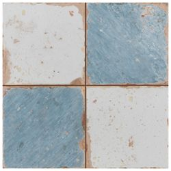 Merola Tile Artisan Damero Azul 13-inch x 13-inch Ceramic Floor and Wall Tile (12.2 sq. ft. / case)