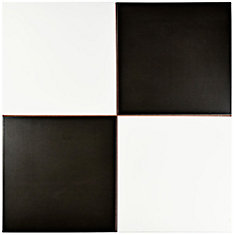 Checker 17-5/8-inch x 17-5/8-inch Ceramic Floor and Wall Tile (11.02 sq. ft. / case)