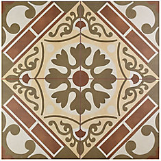 Evasion Rojo 17-5/8-inch x 17-5/8-inch Ceramic Floor and Wall Tile (11.02 sq. ft. / case)