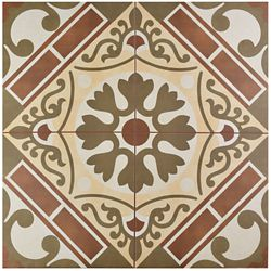 Merola Tile Evasion Rojo 17-5/8-inch x 17-5/8-inch Ceramic Floor and Wall Tile (11.02 sq. ft. / case)