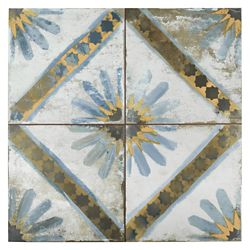 Merola Tile Kings Marrakech Blue 17-5/8-inch x 17-5/8-inch Ceramic Floor and Wall Tile (11.02 sq. ft. / case)