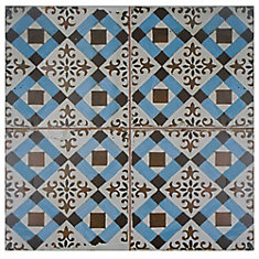 Kings Millbasin 17-5/8-inch x 17-5/8-inch Ceramic Floor and Wall Tile (11.02 sq. ft. / case)