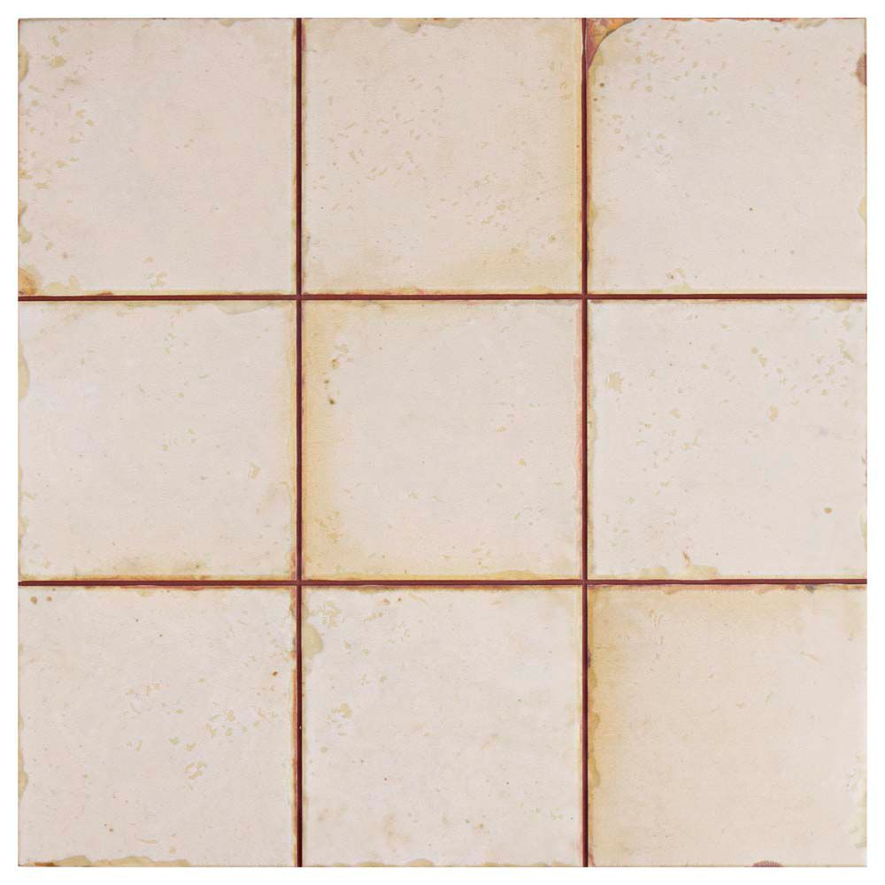 Merola Tile Mirambel Blanco 13-inch x 13-inch Ceramic Floor and Wall Tile (12.2 sq. ft. / case)