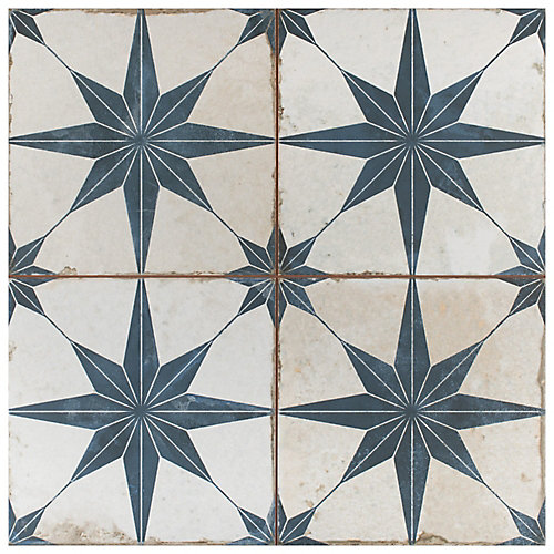 Kings Star Blue 17-5/8-inch x 17-5/8-inch Ceramic Floor and Wall Tile (11.02 sq. ft. / case)