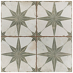 Kings Star Sage 17 5/8-inch x 17 5/8-inch Ceramic Floor and Wall Tile (11.02 sq. ft. / case)