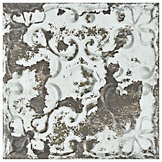 Aevum Dark Ornato 7 7/8-inch x 7 7/8-inch Ceramic Wall Tile (9.63 sq. ft. / case)