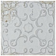 Aevum White Ornato 7-7/8-inch x 7-7/8-inch Ceramic Wall Tile (9.63 sq. ft. / case)