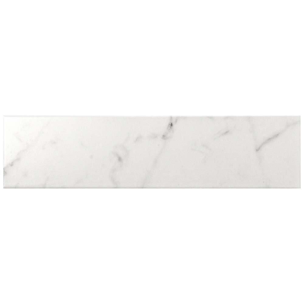 Classico Carrara Matte 3-inch x 12-inch Ceramic Wall Tile (12.16 sq. ft. / case)