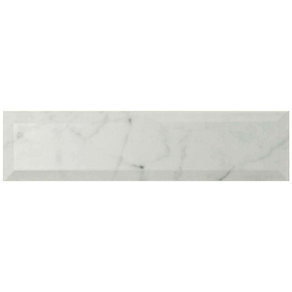 Merola Tile Classico Carrara Matte Metro 3-inch x 12-inch Ceramic Wall Tile (12.16 sq. ft. / case)